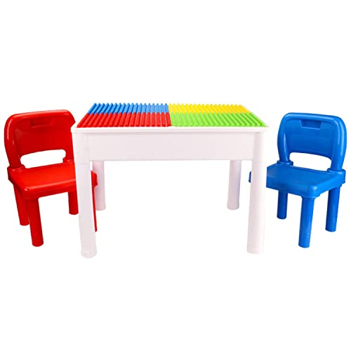 1e068a0837e 4NM Kids Activity Table Set - 3 in 1 Water Table, Craft Table and Building