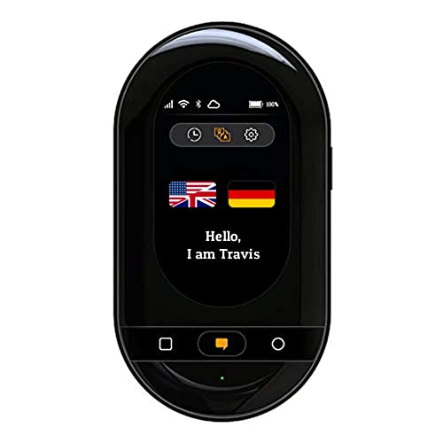 Travis Touch Smart Pocket Translator - 1GB Global Data SIM Card incl, 100+  Languages, Two Way Translations, Touch Screen, Hotspot (Black)