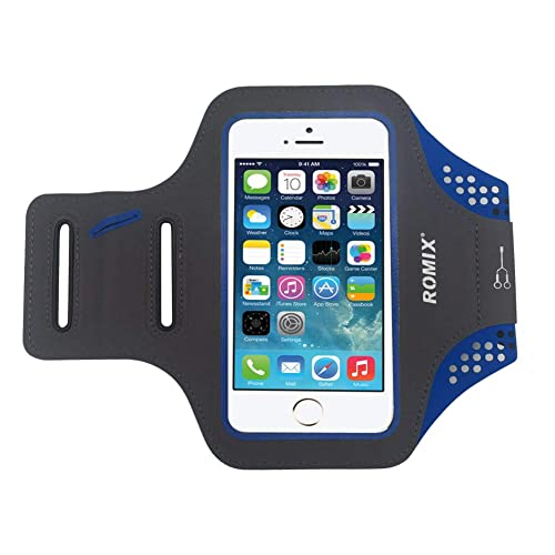 7673db2b00 romix sports con cinturino per telefono fitness - si adatta alla custodia  per telefono per iphone xs max, xr, 8 plus, 7 plus, 6 plus, 6s plus, con ...