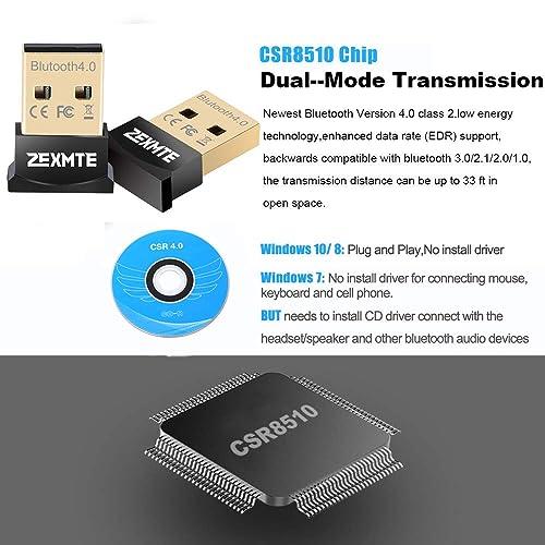 Buy ZEXMTE Bluetooth USB Adapter CSR 4 0 USB Dongle