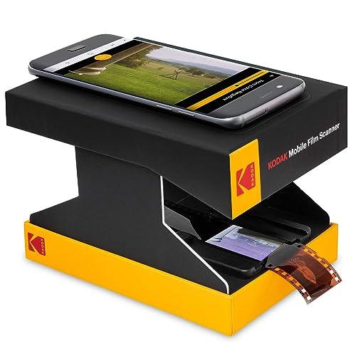 KODAK Mobile Film Scanner – Scan & Save Old 35mm Films & Slides w/Your  Smartphone Camera – Portable, Collapsible Scanner w/Built-in LED Light &