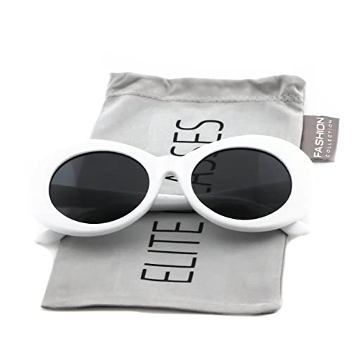 6b954288d4 Clout Goggles Oval Mod Retro Thick Frame Rapper Hypebeast Eyewear Supreme  Glasses Cool Sunglasses