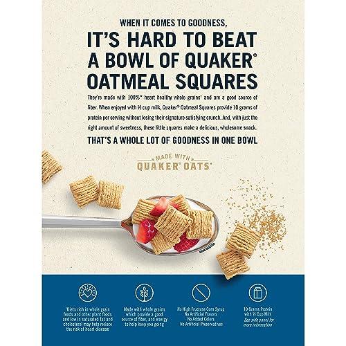 Quaker Oatmeal Squares Cereal, 14.5 Oz