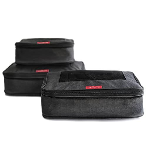 94566fd996ca Buy LeanTravel Compression Packing Cubes Luggage Organizers for ...