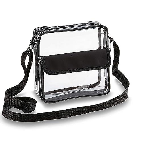c0e22c5bd412 Buy Clear Crossbody Messenger Shoulder Bag with Adjustable Strap NFL ...
