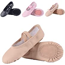 258c0d34da8af Leather Ballet Shoes for Girls/Toddlers/Kids, Full Sole Leather Ballet  Slippers/