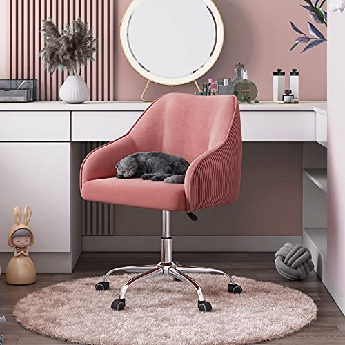 Cute Pink Desk Chair For Teens Girls, Girls Desk And Chair