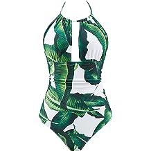 a8de5326e8847 B2prity Women's One Piece Swimsuits Tummy Control Swimwear Slimming  Monokini Bathing Suits