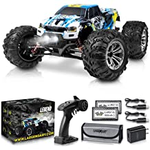 Wujiedi Remote Control car 1:18, Black RC Off-Road Vehicle 2.4Ghz 4WD 1:18 Rechargeable Remote Control Crawler is Suitable for Adult//Child Toy car