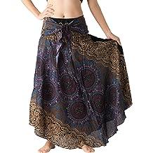 d42f8193ccbe Bangkokpants Women's Long Hippie Bohemian Skirt Gypsy Dress Boho  Clothes Flowers One